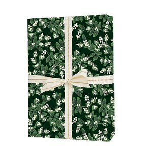 [Rifle Paper Co.] Evergreen Mistletoe Wrapping Sheets [3 sheets]
