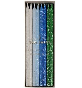 [Meri Meri] Blue Straight Birthday Candles (24ea)