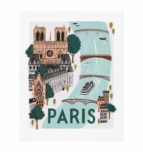 [Rifle Paper Co.] Paris World Traveler Art Print  3 size