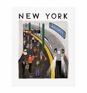 [Rifle Paper Co.] New York World Traveler Art Print 3 size