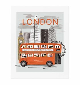 [Rifle Paper Co.] London World Traveler Art Print 3 size