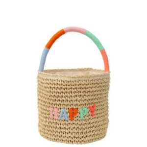 [Meri Meri] Happy Woven Straw Bag