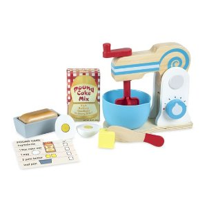 [Melissa & Doug] Wooden Make-a-Cake Mixer Set