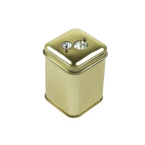 [DUX] Sweet Candy Double Hole Pencil Sharpener Tin Gold