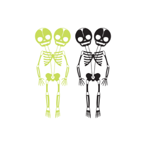 [Tattly] Skeletons (Glow-In-The-Dark)