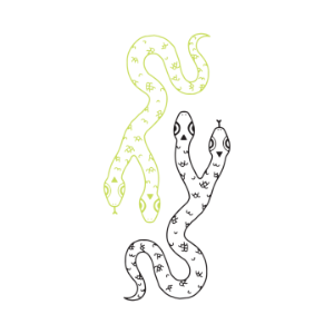 [Tattly] Two Headed Snake (Glow-In-The-Dark)