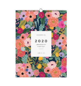 [Rifle Paper Co.] 2020 Garden Blooms Appointment Calendar
