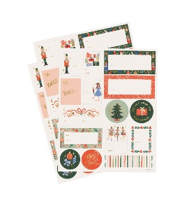 [Rifle Paper Co.] Nutcracker Holiday Gift Stickers [3 Sheets]