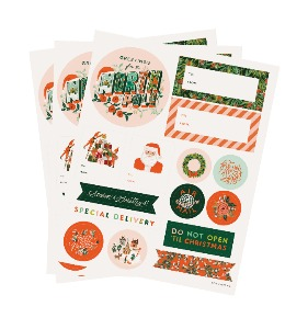 [Rifle Paper Co.] Season's Greetings Holiday Gift Stickers [3 Sheets]