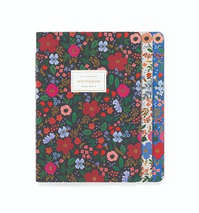 [Rifle Paper Co.] Wild Rose Stitched Notebook Set