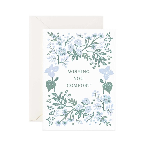 [Rifle Paper Co.] Letterpress Indigo Sympathy Card