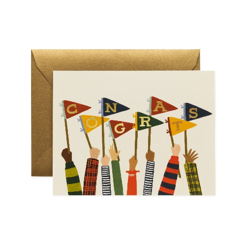 [Rifle Paper Co.] Congrats Pennants Card