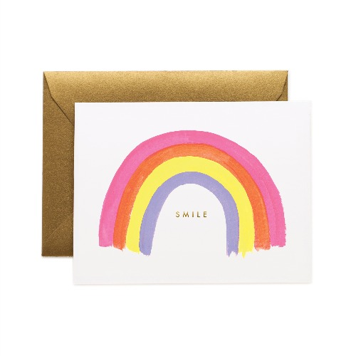 [Rifle Paper Co.] Smile Rainbow Card