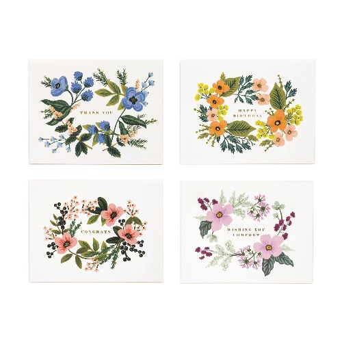 [Rifle Paper Co.] Assorted Bouquet Card Set