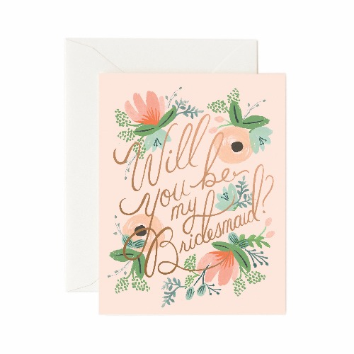 [Rifle Paper Co.] Blushing Bridesmaid Card