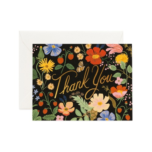 [Rifle Paper Co.] Strawberry Fields Thank You Card
