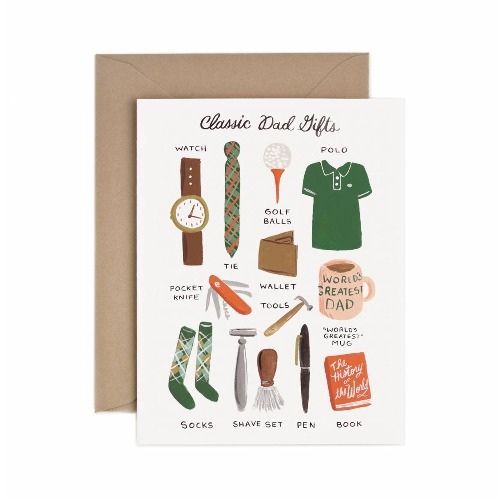 [Rifle Paper Co.] Classic Dad's Gift Card