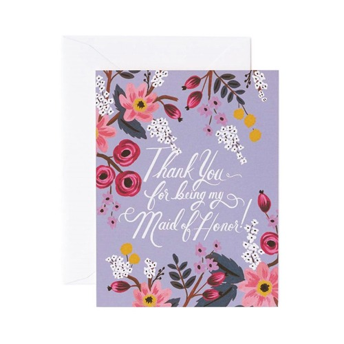 [Rifle Paper Co.] Thank You Maid of Honor Card 웨딩 카드