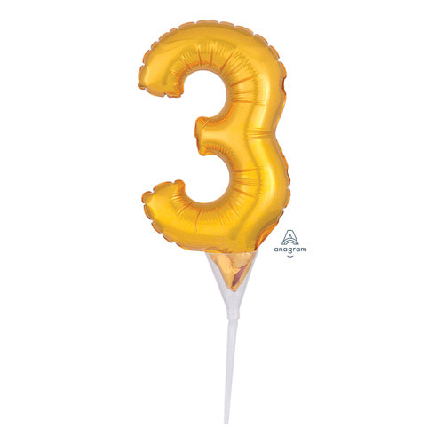 [Anagram] Cake Picks Number 3 Topper
