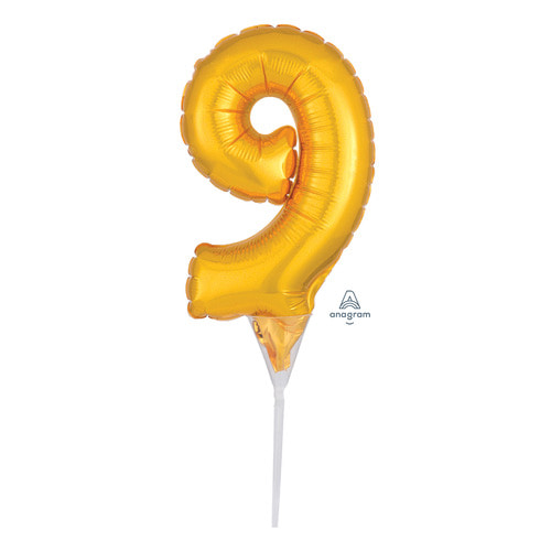 [Anagram] Cake Picks Number 9 Topper
