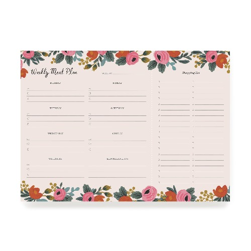 [Rifle Paper Co.] Rosa Weekly Meal Planner