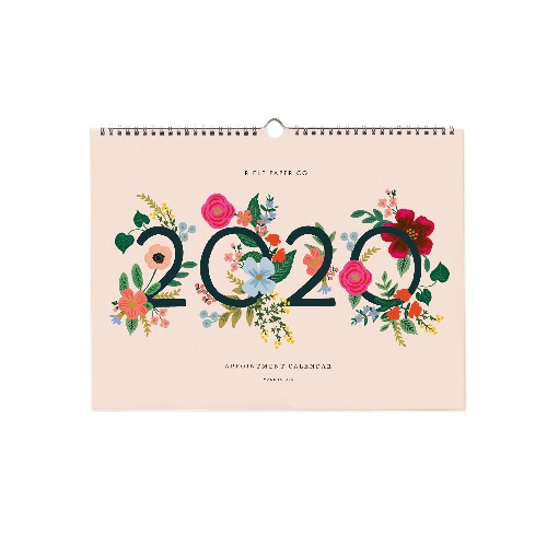 [Rifle Paper Co.] 2020 Wild Rose Appointment Calendar