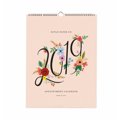 [Rifle Paper Co.] 2019 Bouquet Appointment Calendar