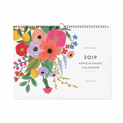 [Rifle Paper Co.] 2019 Garden Party Appointment Calendar