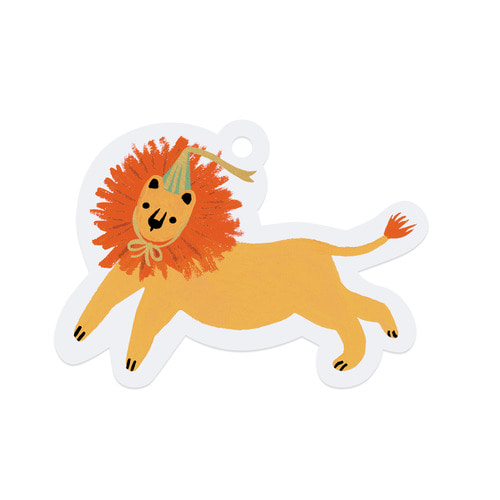 [Rifle Paper Co.] Party Lion Die-Cut Gift Tag