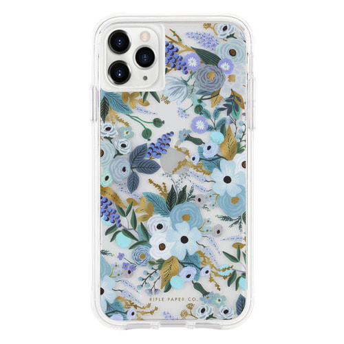 [Rifle Paper Co.] Clear Garden Party Blue iPhone Case (iPhone 11 ,11pro )