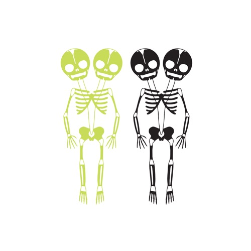 [Tattly] Skeletons Pairs(Glow-In-The-Dark)