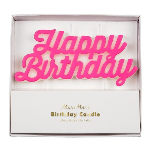 [Meri Meri] Happy Birthday Candle (Pink)