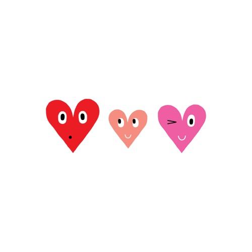 [Tattly] Three Hearts Pairs