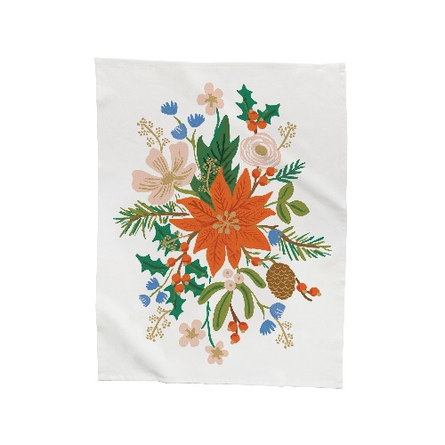[Rifle Paper Co.] Holiday Bouquet Holiday Tea Towel