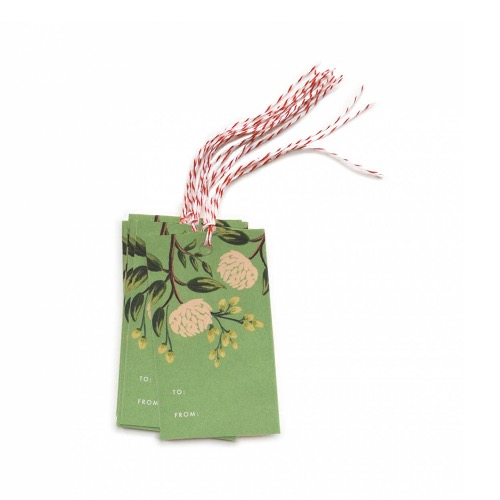 [Rifle Paper Co.] Emerald Peoney Gift Tags