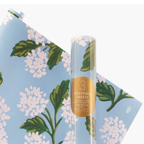 [Rifle Paper Co.] Hydrangea Wrapping Sheets [3 sheets]