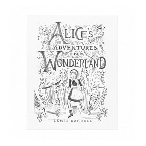 [Rifle Paper Co.] Alice Sketch Art Print 2 size