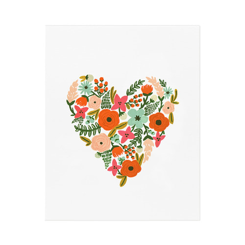 [Rifle Paper Co.] Floral Heart Art Print 2 size