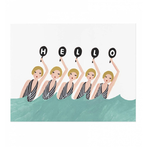 [Rifle Paper Co.] Synchronized Swimmers Art Print 8 x 10