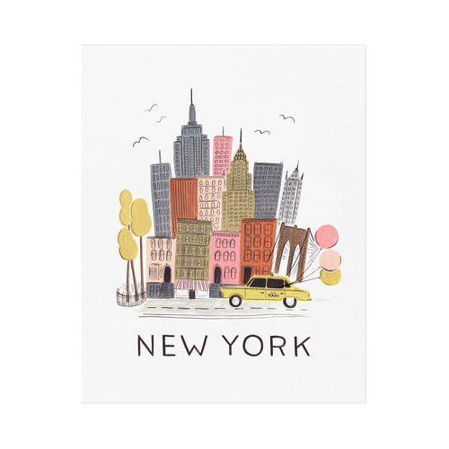 [Rifle Paper Co.] NYC Art Print 2 size