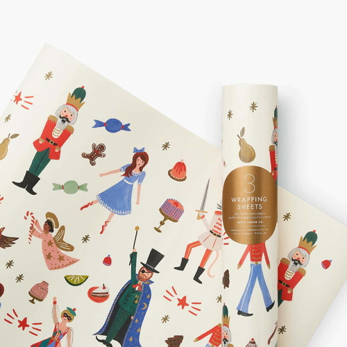 [Rifle Paper Co.] Nutcracker Wrapping Sheets [3 sheets]