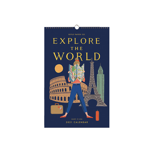 [Rifle Paper Co.] 2021 Explore The World Wall Calendar