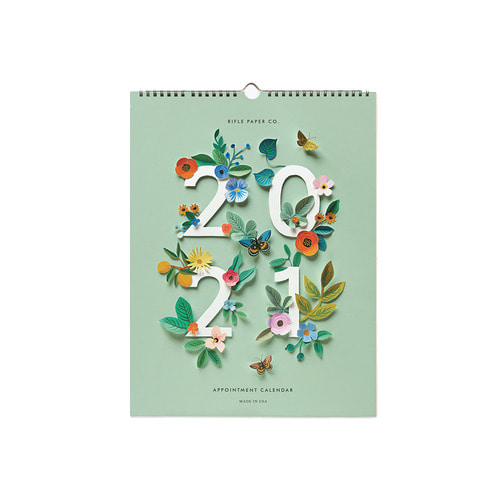 [Rifle Paper Co.] 2021 Cut Paper Appointment Calendar