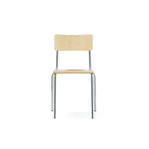 [L&C stendal] Comeback 041 Chair - Natural Beech/Chrome Frame
