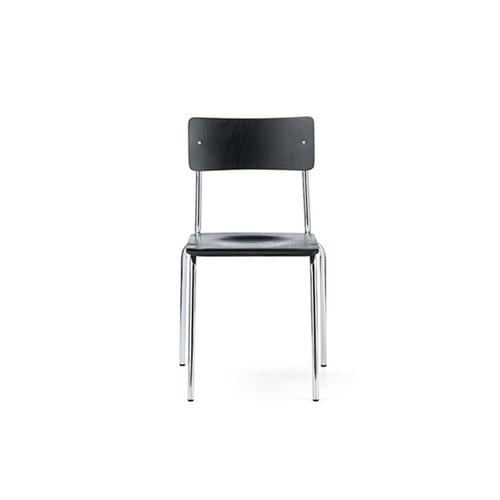 [L&C stendal] Comeback 041 Chair - Black Stained Beech/Chrome Frame