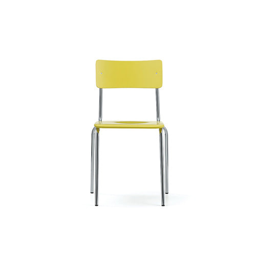 [L&C stendal] Comeback 041 Chair - Yellow Stained Beech/Chrome Frame