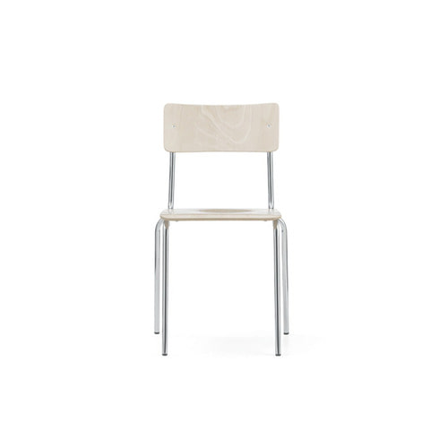 [L&C stendal] Comeback 041 Chair - White Stained Beech/Chrome Frame
