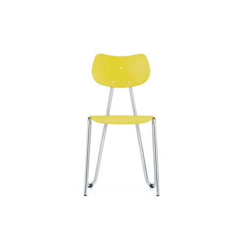 [L&C stendal] Arno 417 Chair - Yellow Stained Beech/Chrome Frame