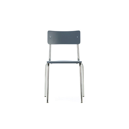 [L&C stendal] Comeback 041 Chair - Grey Stained Beech/Chrome Frame