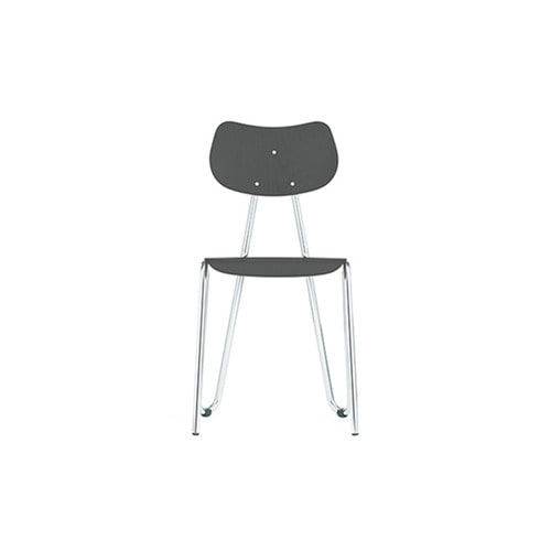 [L&C stendal] Arno 417 Chair - Grey Stained Beech/Chrome Frame
